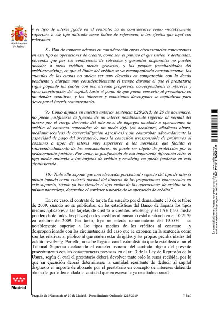 Sentencia ganada por Donrecuperador contra Banco Cetelem por usura